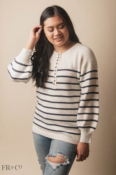 Mira Button-Down Sweater