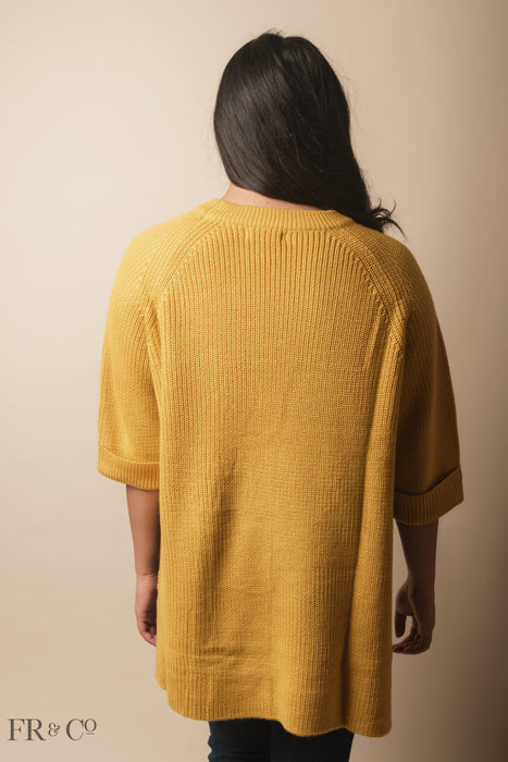 High Low Sweater - Yellow