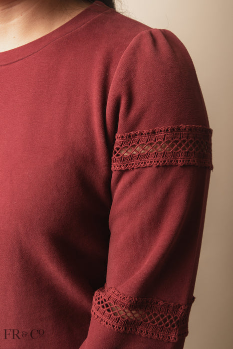 Collins Sweater - Burgundy