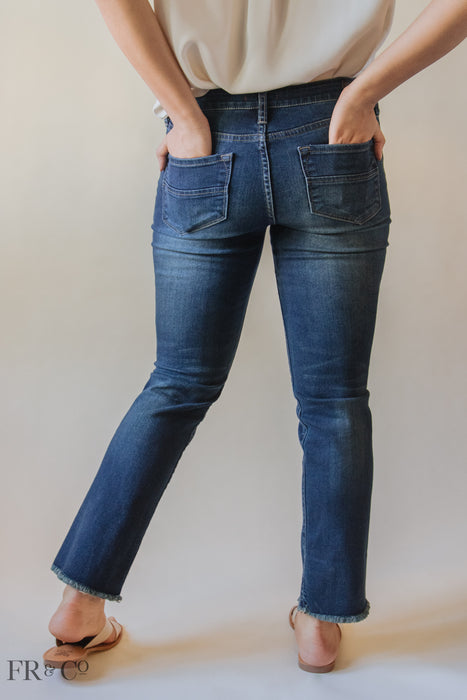Cuffed Dark Wash Jean