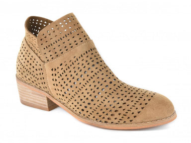 Brier Taupe Low Ankle Laser Cut Bootie