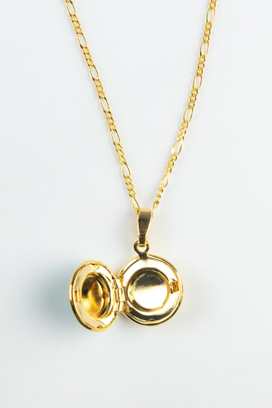 Circular Locket with Crystal
