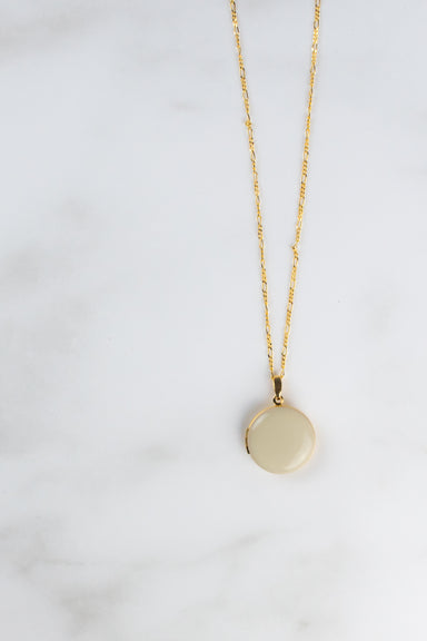 Large Beige Locket