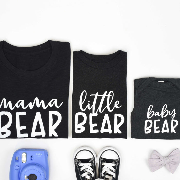 Baby Bear Onesie in Black