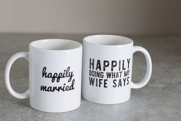 Happily Married Coffee Mug Set