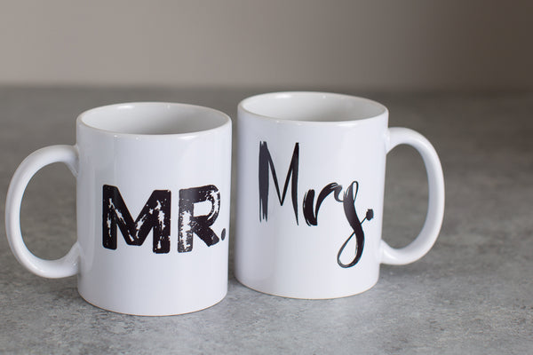 Set of Mr and Mrs Mugs