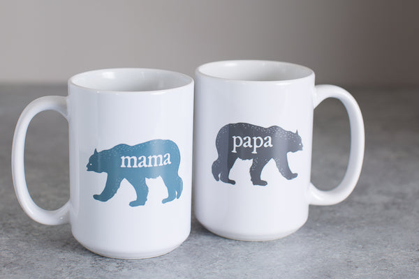 Papa Bear and Mama Bear | 15oz Coffee Mug Set