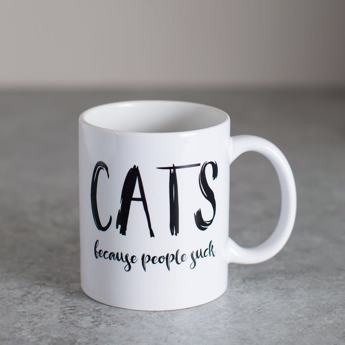 CATS Because People Suck | Coffee Mug