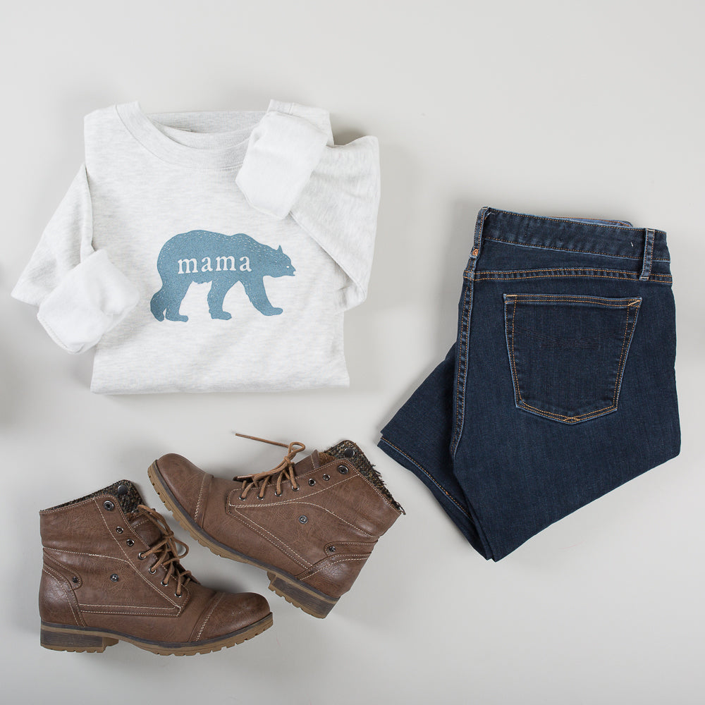 Heavyweight Mama Bear Sweatshirt - Oatmeal Heather