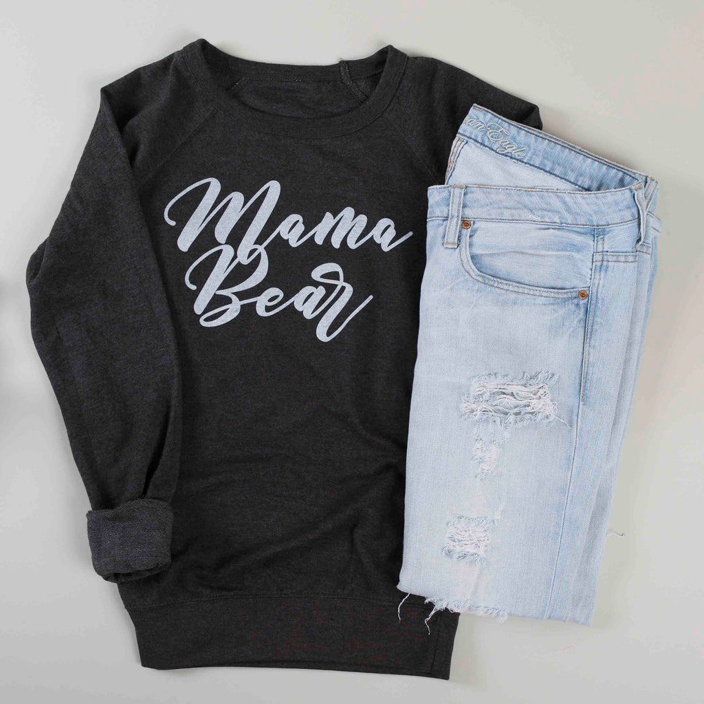 Mama Bear Sweatshirt - Gunmetal Grey