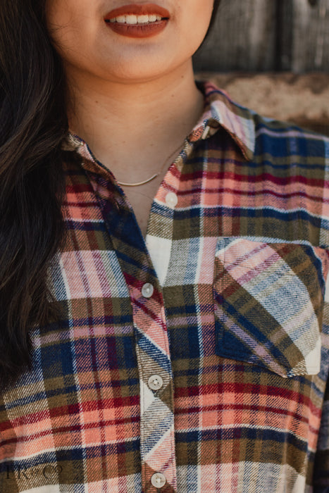 Charlotte Flannel - Navy Copper