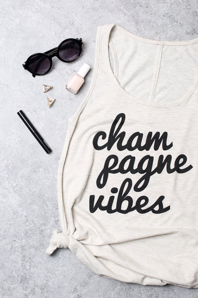 Champagne Vibes Womens Tank