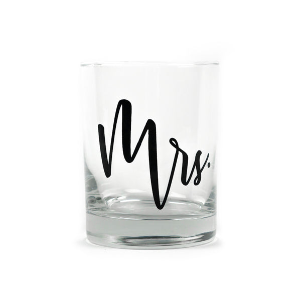 Mrs Old Fashioned Glass