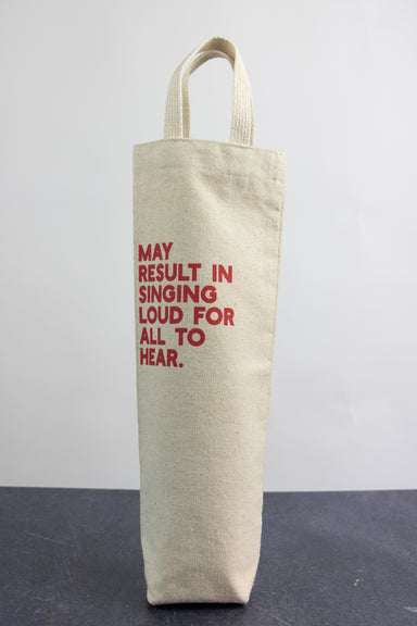 Singing Loud For All To Hear Gift Wine Bag