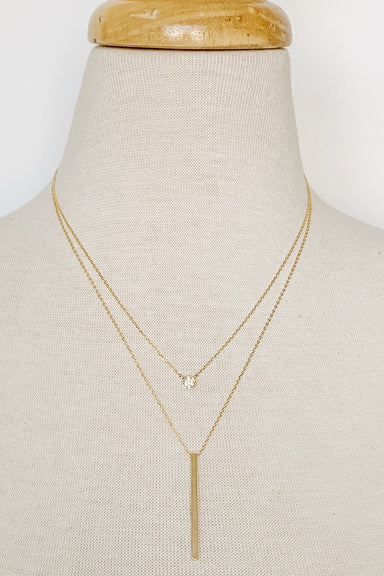 Gold Dainty Two-Layer Necklace