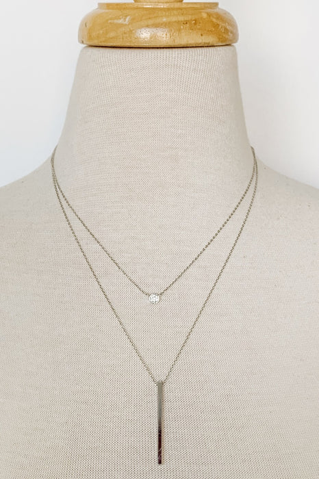 Silver Dainty Two-Layer Necklace