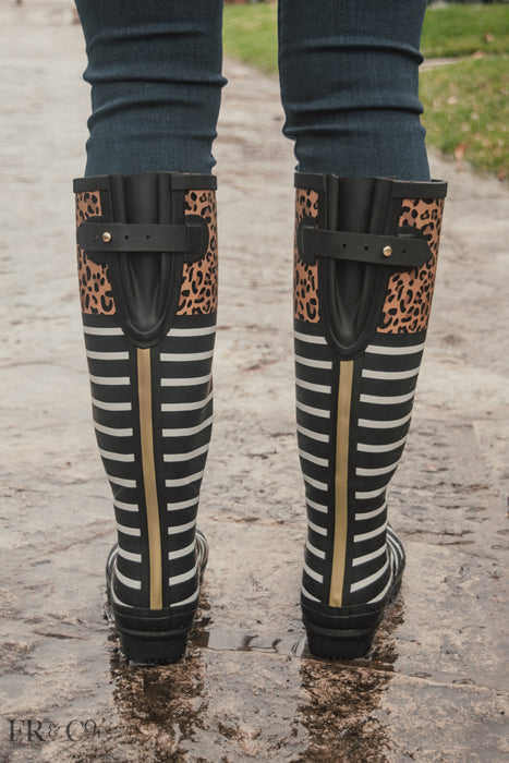 Tall Rain Boot with Gusset Back