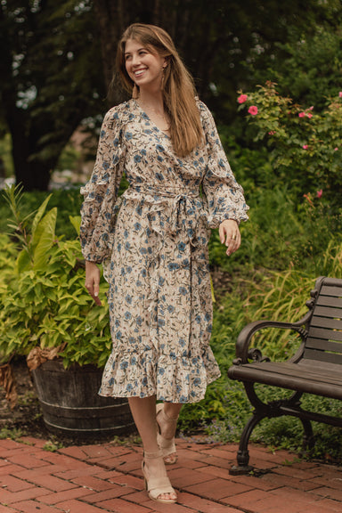 Fiona Floral Flutter Midi Dress