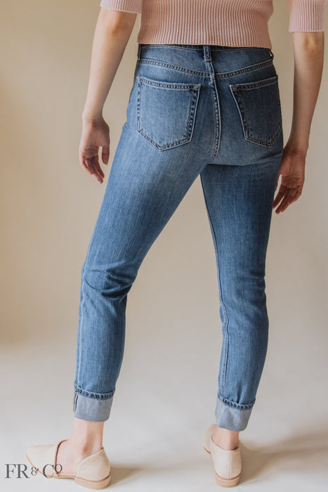 High Rise Mom Skinny Jean
