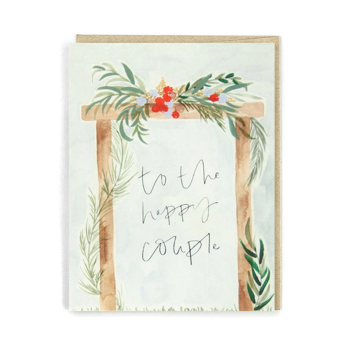 To the Happy Couple Wooden Arch Card