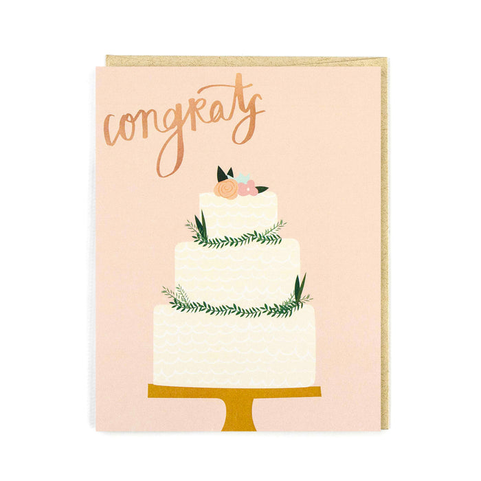 Wedding Cake Congrats Card