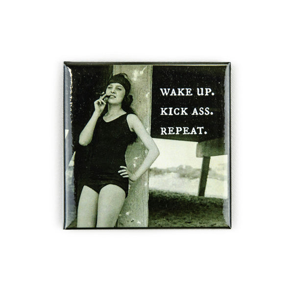Wake Up Kick Ass Repeat Magnet