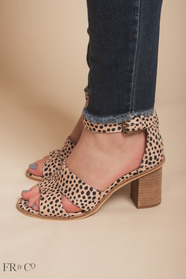 Lara Block Heel - Cheetah