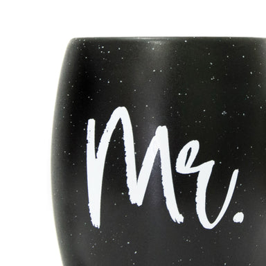 Mr. Mug - Black with White Speckle - Matte Finish