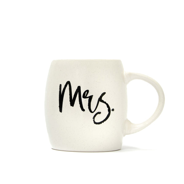 Mrs. Mug - White with Black Speckle - Matte Finish