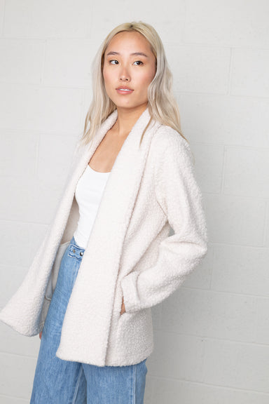 Open Front Sherpa Jacket