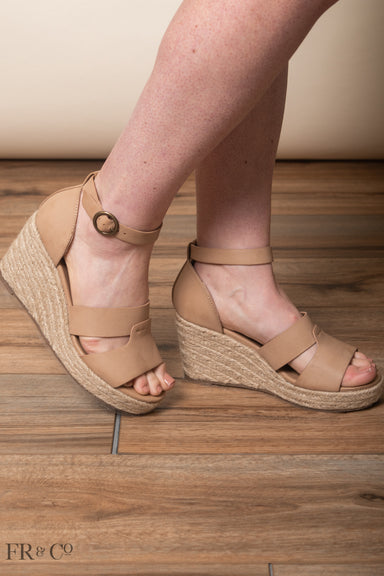 Martinique Platform Heel - Nude