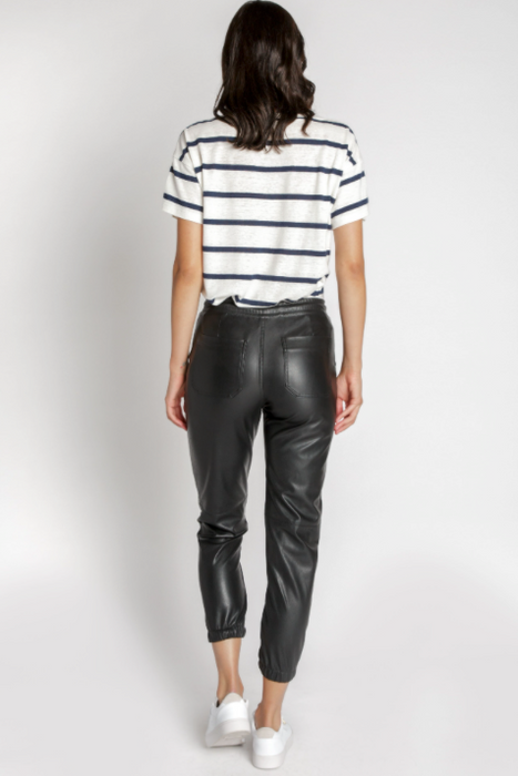 Frankie Vegan Leather Jogger