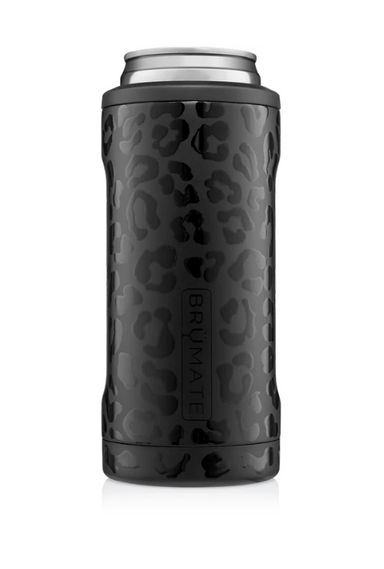 12oz Slim Can Cooler - Onyx Leopard