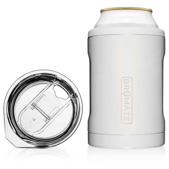 2-in-1 Can Cooler - Glitter White