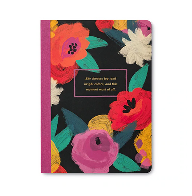 She Chooses Joy and Bright Colors - Notebook