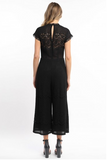 Black Lace Scalloped Jumpsuit