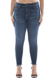 Mid- Rise Frayed Hem Cropped Skinny Jean - Plus Size