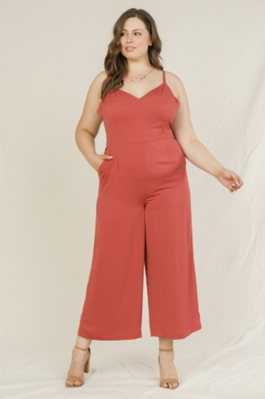 Terracotta Jumpsuit-Plus Size