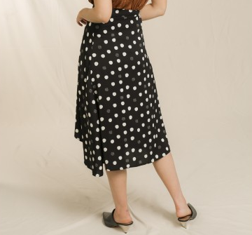 Polka Dot Butterfly Hem Skirt