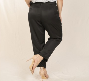 Black Paper Bag Pant - Plus Size
