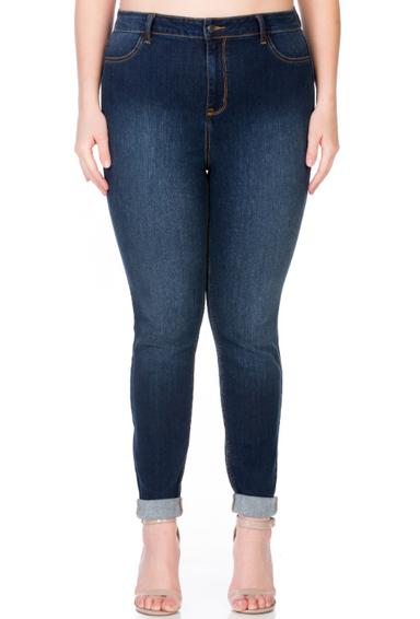 High Rise Dark Wash Super Skinny Jean - Plus Size
