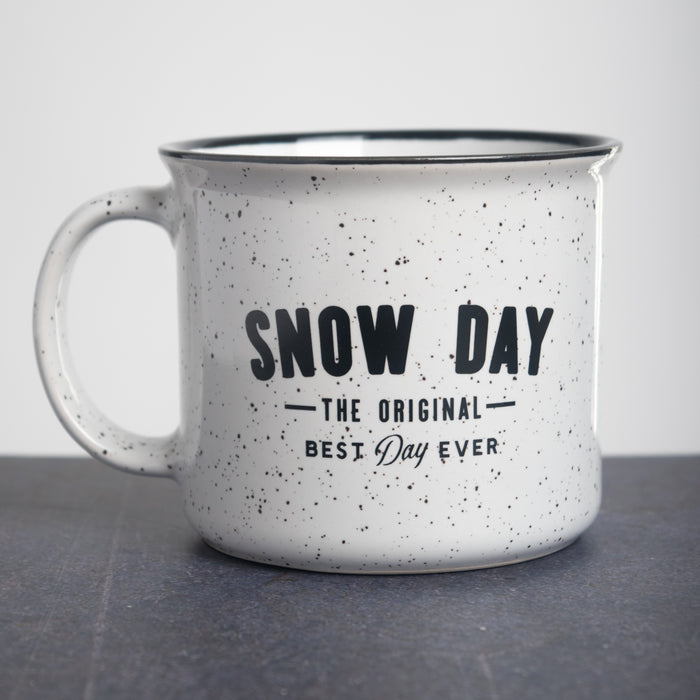 Snow Day Campfire Mug - White