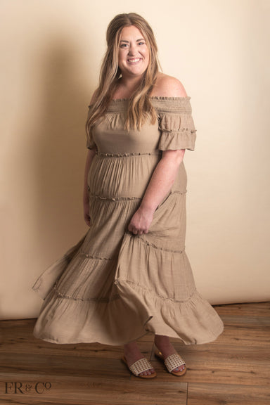 Daniella Maxi Dress - Taupe