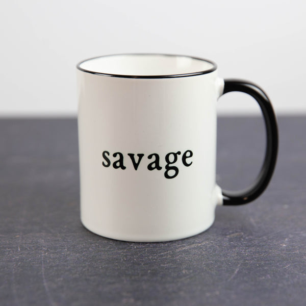 Savage with Black Handle | Coffee Mug