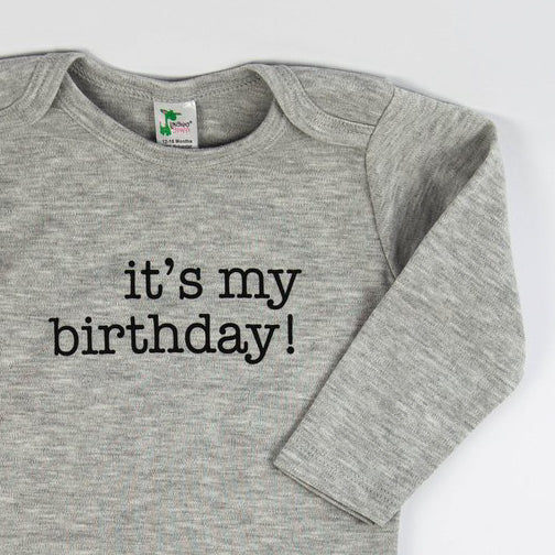 It's My Birthday Onesie - Grey