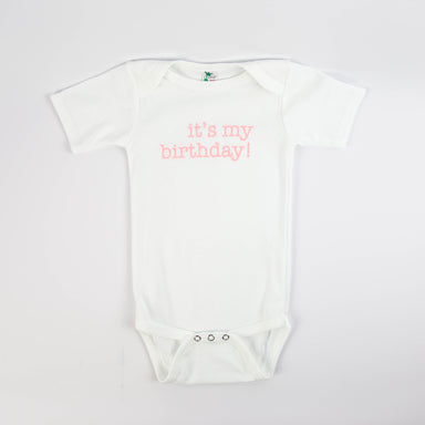 It's My Birthday Onesie - White