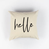 Hello 18x18 Canvas Pillow