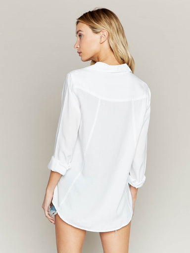 Classic White Button Up Blouse