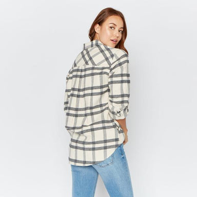 Grey and Ivory Plaid Flannel