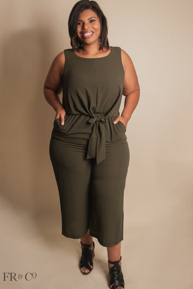 Elise Wide Leg Jumpsuit - Plus Size